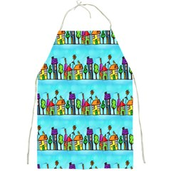 Colourful Street A Completely Seamless Tile Able Design Full Print Aprons