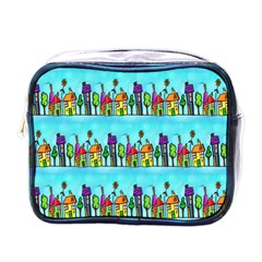 Colourful Street A Completely Seamless Tile Able Design Mini Toiletries Bags