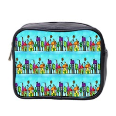 Colourful Street A Completely Seamless Tile Able Design Mini Toiletries Bag 2-Side