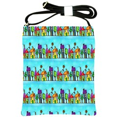 Colourful Street A Completely Seamless Tile Able Design Shoulder Sling Bags