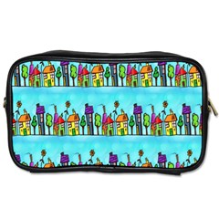 Colourful Street A Completely Seamless Tile Able Design Toiletries Bags 2-Side