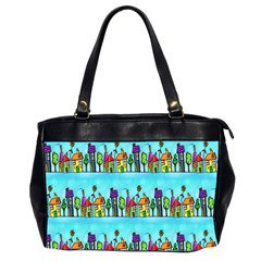 Colourful Street A Completely Seamless Tile Able Design Office Handbags (2 Sides)