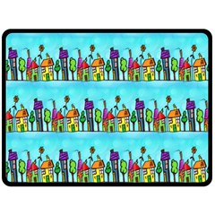 Colourful Street A Completely Seamless Tile Able Design Fleece Blanket (Large)