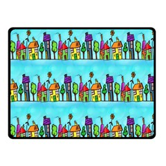 Colourful Street A Completely Seamless Tile Able Design Fleece Blanket (Small)