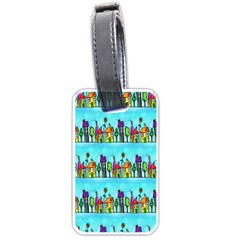 Colourful Street A Completely Seamless Tile Able Design Luggage Tags (Two Sides)