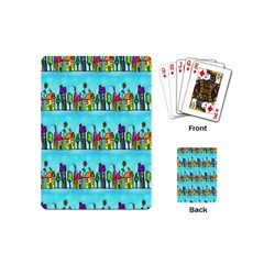 Colourful Street A Completely Seamless Tile Able Design Playing Cards (Mini)