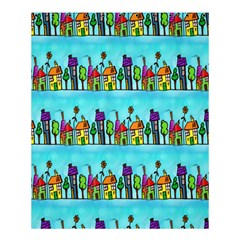 Colourful Street A Completely Seamless Tile Able Design Shower Curtain 60  x 72  (Medium)
