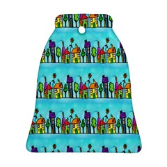 Colourful Street A Completely Seamless Tile Able Design Ornament (bell)