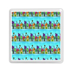 Colourful Street A Completely Seamless Tile Able Design Memory Card Reader (Square)