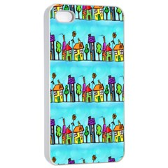 Colourful Street A Completely Seamless Tile Able Design Apple Iphone 4/4s Seamless Case (white)
