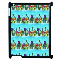 Colourful Street A Completely Seamless Tile Able Design Apple iPad 2 Case (Black)