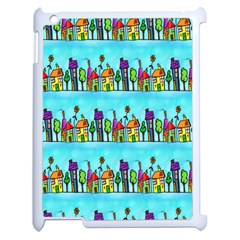 Colourful Street A Completely Seamless Tile Able Design Apple iPad 2 Case (White)