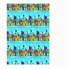 Colourful Street A Completely Seamless Tile Able Design Large Garden Flag (Two Sides)