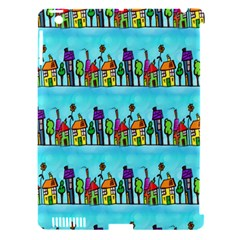 Colourful Street A Completely Seamless Tile Able Design Apple iPad 3/4 Hardshell Case (Compatible with Smart Cover)