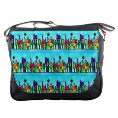Colourful Street A Completely Seamless Tile Able Design Messenger Bags