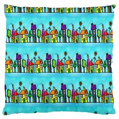 Colourful Street A Completely Seamless Tile Able Design Large Cushion Case (one Side)