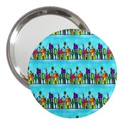 Colourful Street A Completely Seamless Tile Able Design 3  Handbag Mirrors