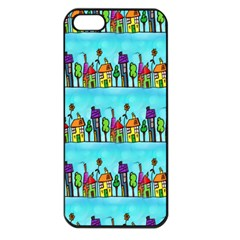 Colourful Street A Completely Seamless Tile Able Design Apple iPhone 5 Seamless Case (Black)