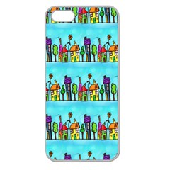 Colourful Street A Completely Seamless Tile Able Design Apple Seamless iPhone 5 Case (Clear)