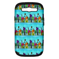 Colourful Street A Completely Seamless Tile Able Design Samsung Galaxy S Iii Hardshell Case (pc+silicone)
