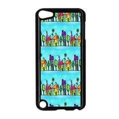Colourful Street A Completely Seamless Tile Able Design Apple iPod Touch 5 Case (Black)
