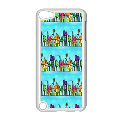Colourful Street A Completely Seamless Tile Able Design Apple iPod Touch 5 Case (White)