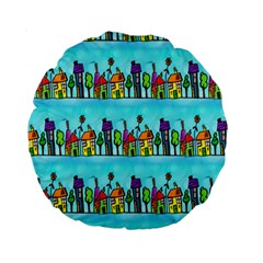 Colourful Street A Completely Seamless Tile Able Design Standard 15  Premium Round Cushions