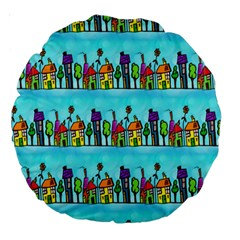 Colourful Street A Completely Seamless Tile Able Design Large 18  Premium Round Cushions