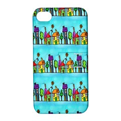 Colourful Street A Completely Seamless Tile Able Design Apple iPhone 4/4S Hardshell Case with Stand