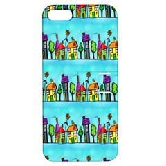 Colourful Street A Completely Seamless Tile Able Design Apple Iphone 5 Hardshell Case With Stand