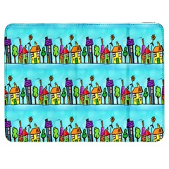 Colourful Street A Completely Seamless Tile Able Design Samsung Galaxy Tab 7  P1000 Flip Case