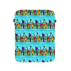 Colourful Street A Completely Seamless Tile Able Design Apple iPad 2/3/4 Protective Soft Cases