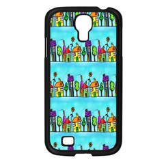 Colourful Street A Completely Seamless Tile Able Design Samsung Galaxy S4 I9500/ I9505 Case (Black)