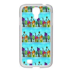Colourful Street A Completely Seamless Tile Able Design Samsung GALAXY S4 I9500/ I9505 Case (White)