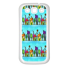 Colourful Street A Completely Seamless Tile Able Design Samsung Galaxy S3 Back Case (white)
