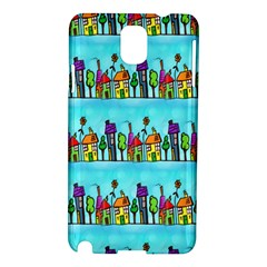 Colourful Street A Completely Seamless Tile Able Design Samsung Galaxy Note 3 N9005 Hardshell Case