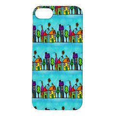 Colourful Street A Completely Seamless Tile Able Design Apple iPhone 5S/ SE Hardshell Case