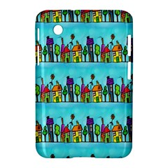 Colourful Street A Completely Seamless Tile Able Design Samsung Galaxy Tab 2 (7 ) P3100 Hardshell Case