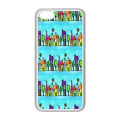 Colourful Street A Completely Seamless Tile Able Design Apple Iphone 5c Seamless Case (white)