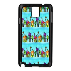 Colourful Street A Completely Seamless Tile Able Design Samsung Galaxy Note 3 N9005 Case (Black)