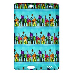 Colourful Street A Completely Seamless Tile Able Design Amazon Kindle Fire Hd (2013) Hardshell Case
