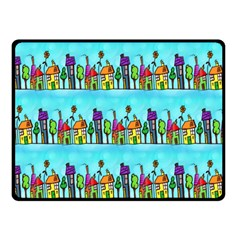 Colourful Street A Completely Seamless Tile Able Design Double Sided Fleece Blanket (small)