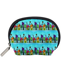 Colourful Street A Completely Seamless Tile Able Design Accessory Pouches (small)