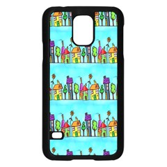 Colourful Street A Completely Seamless Tile Able Design Samsung Galaxy S5 Case (black)