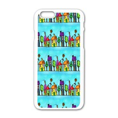 Colourful Street A Completely Seamless Tile Able Design Apple iPhone 6/6S White Enamel Case