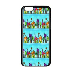 Colourful Street A Completely Seamless Tile Able Design Apple iPhone 6/6S Black Enamel Case