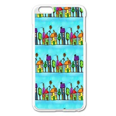 Colourful Street A Completely Seamless Tile Able Design Apple Iphone 6 Plus/6s Plus Enamel White Case