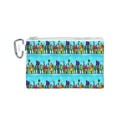 Colourful Street A Completely Seamless Tile Able Design Canvas Cosmetic Bag (s)
