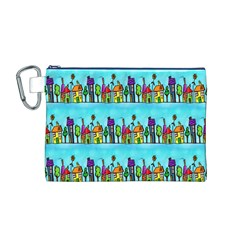 Colourful Street A Completely Seamless Tile Able Design Canvas Cosmetic Bag (M)