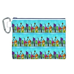 Colourful Street A Completely Seamless Tile Able Design Canvas Cosmetic Bag (L)
